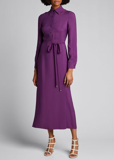 Jersey Maxi Shirtdress