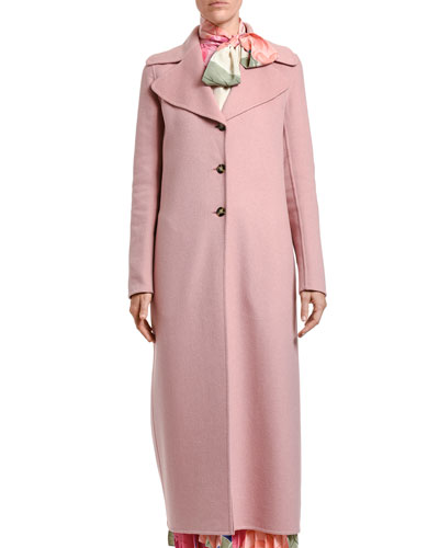 Double Cashmere Wool Twill Coat