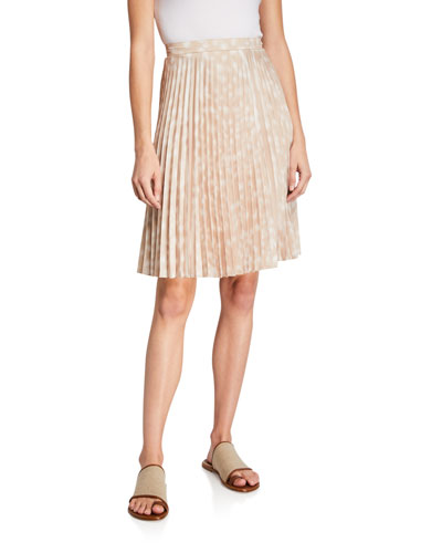 Rersby Pleated Silk Skirt