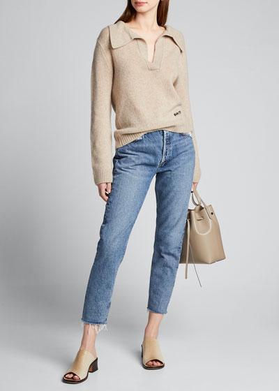 Marisa V-Neck Polo Sweater