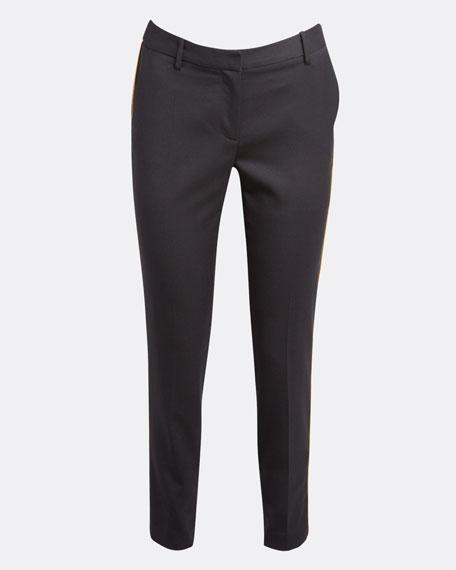 Leo Stretch Wool Straight-Leg Pants