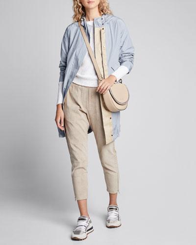 Hooded Long Taffeta Jacket