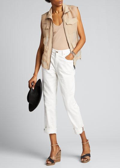 Crispy Silk Chiffon Vest