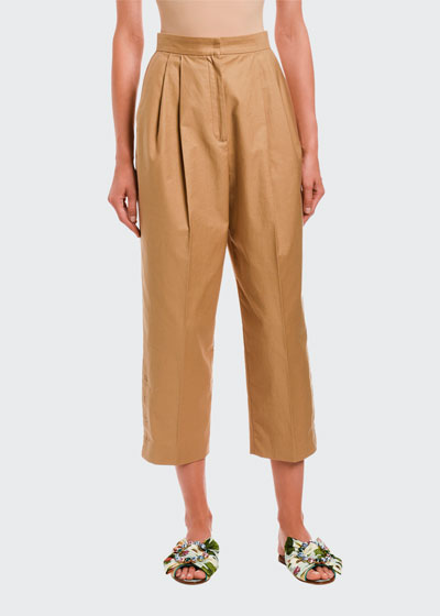High-Rise Relaxed Cropped Pants