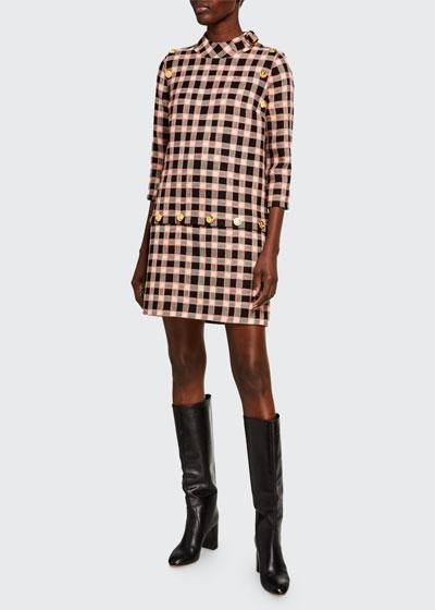 Fancy Tweed Damier Dress