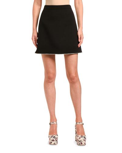 Grain de Poudre Crystal-Hem Mini Skirt