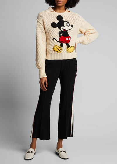 Mickey Mouse Knit Polo Sweater