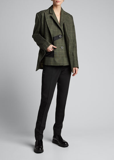 Glen-Checked Tailored Blazer