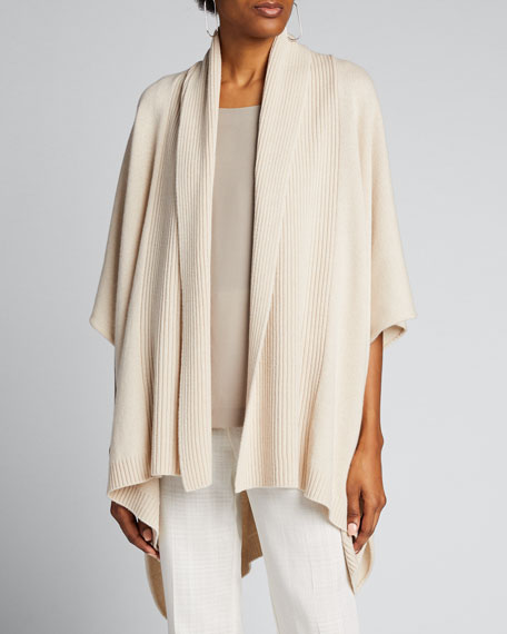 Cashmere Wide High-Low Tabard Cardigan