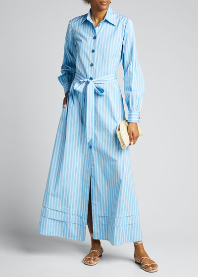 Lily Striped Flare Shirtdress