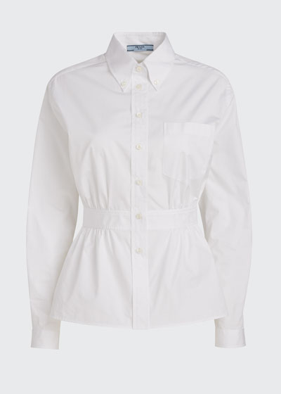 Egyptian Poplin Peplum Shirt