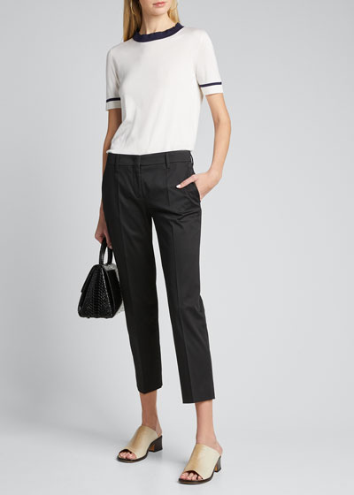 Stretch Cotton Classic Pants