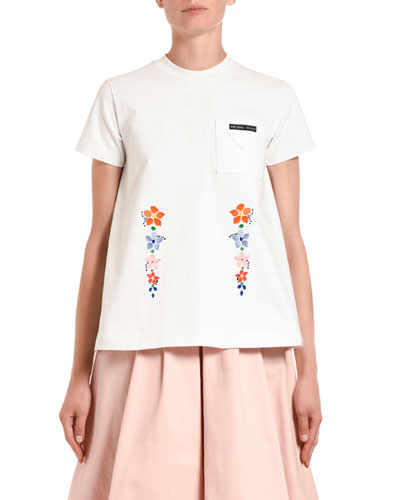 Edelweiss Embroidered T-Shirt