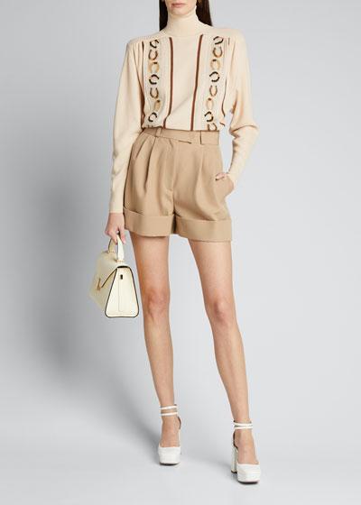 Wool Cuffed Shorts