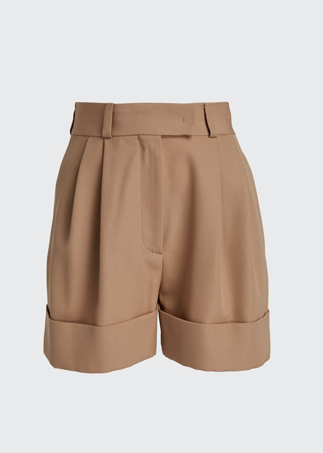 Wool Cuffed Shorts