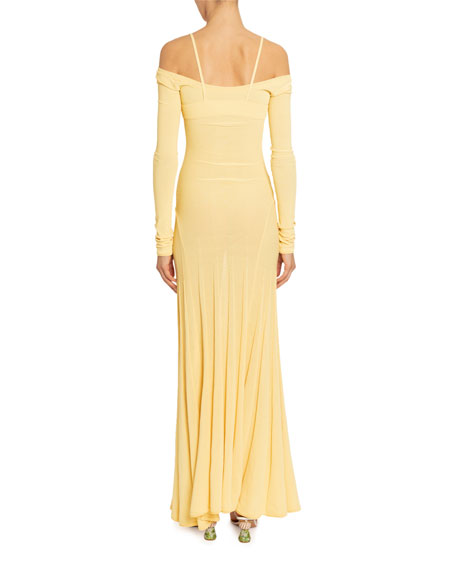 Valensole Cold-Shoulder Jersey Column Dress