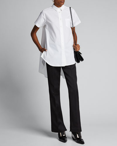Poplin High-Low Shirt