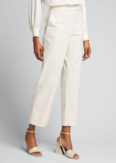 Sidney Cotton Canvas Cuffed Pants