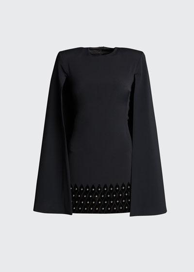 Caped Mini Dress