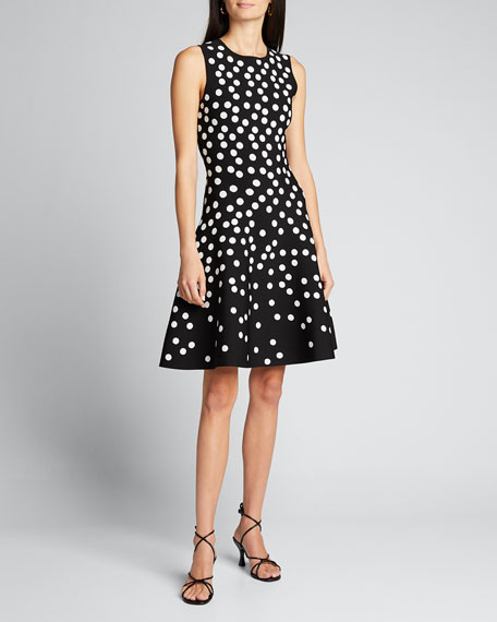 Polka Dot Fit-&-Flare Dress