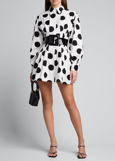 Polka-Dot Shirtdress