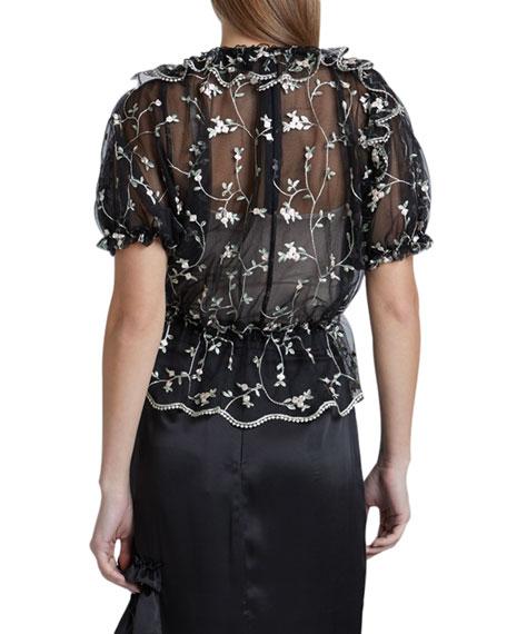 Floral Lace Bubble Top