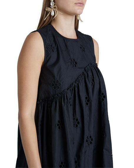 Poplin Asymmetric Babydoll Dress