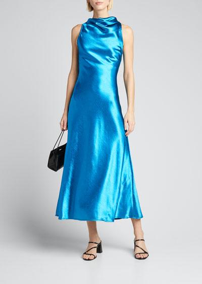 Cowl-Neck Bias Dress