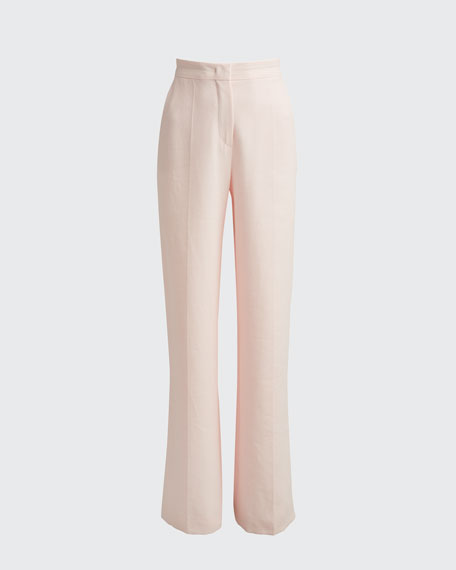 Cotton Long Wide-Leg Pants