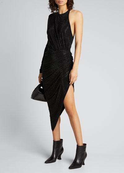 Crystal Jersey One-Shoulder Dress