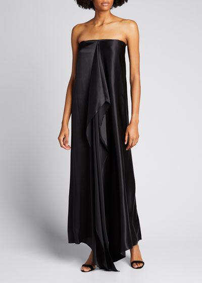 Betsy Knot-Front Strapless Dress