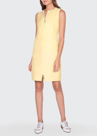 Two-Tone Zip-Front Reversible Dress