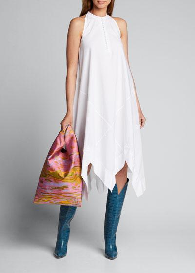 Sleeveless Bias Midi Scarf Dress