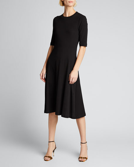 Cropped Sleeve T-Shirt Dress