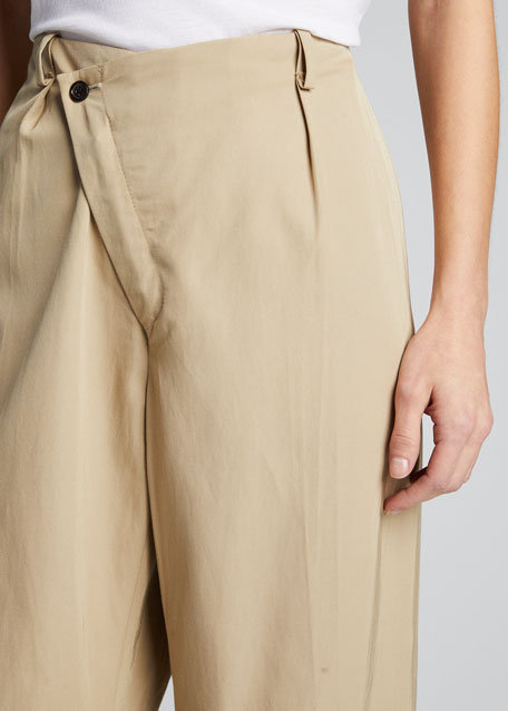 Tina Asymmetric Wide-Leg Pants