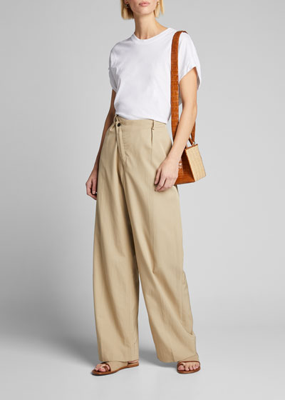 Tina Asymmetric Wide-Leg Pants