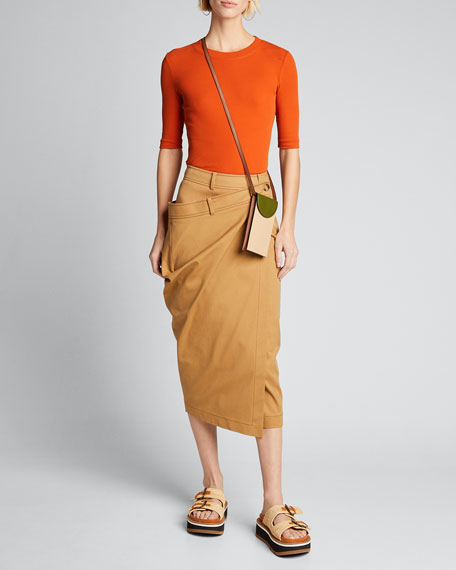 Cropped Sleeve T-Shirt