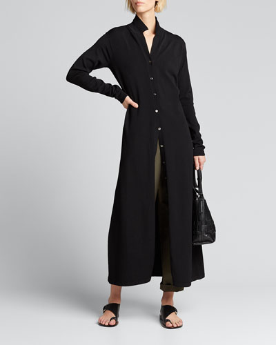 Button-Front Maxi Dress