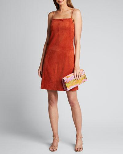Suede Camisole Mini Dress
