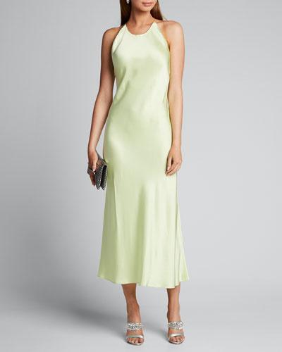 Satin Crossback Slip Dress