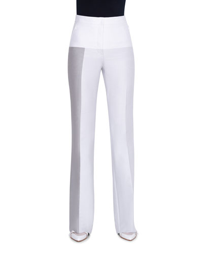 Cotton-Silk Double-Face Pants