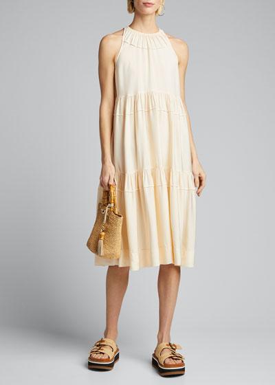 Tiered Ruffle Halter Dress