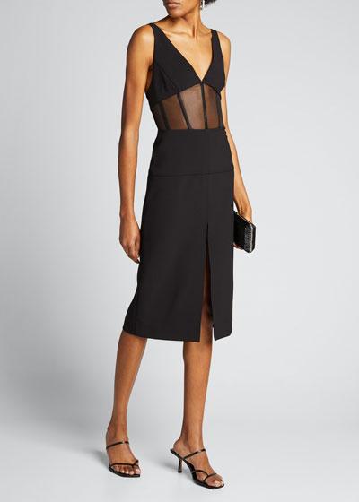 Sleeveless V-neck Corset Dress