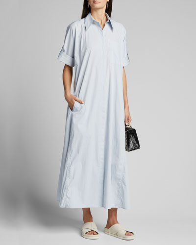 Ruffled Shirtdress