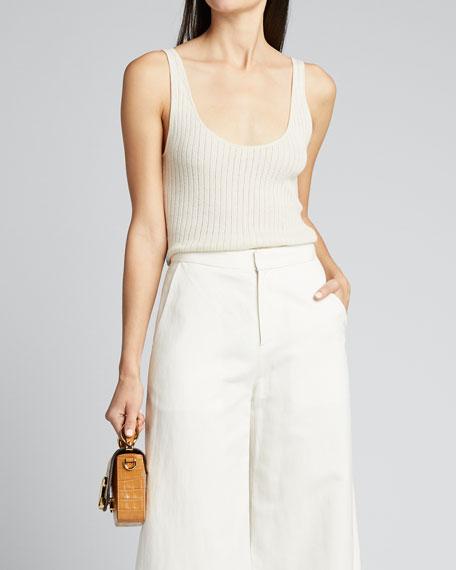 Linen-Cotton Full Leg Pants
