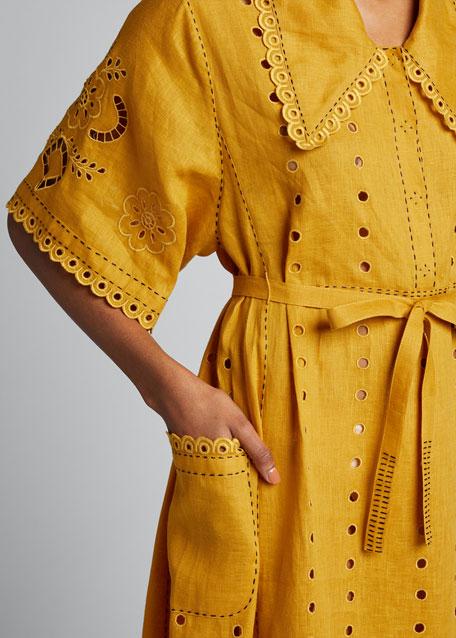 Charlotte Hand-Cut Embroidered Shirtdress