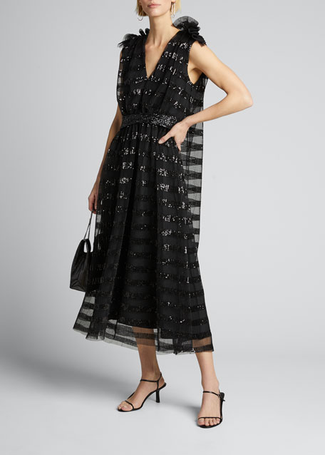 Image 1 of 1: Gathered Midi Dress