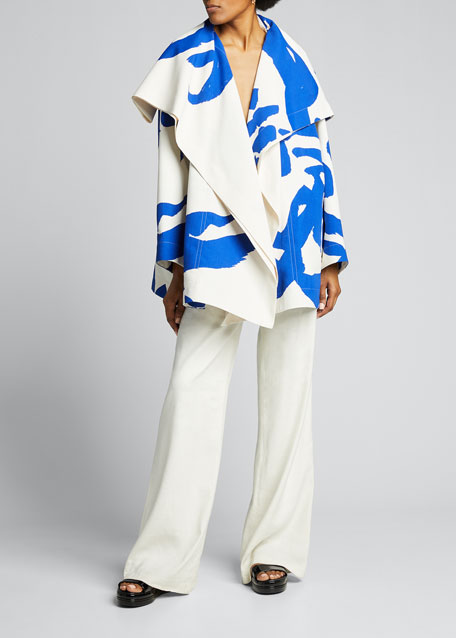 Image 1 of 1: Hold Print Midi Coat