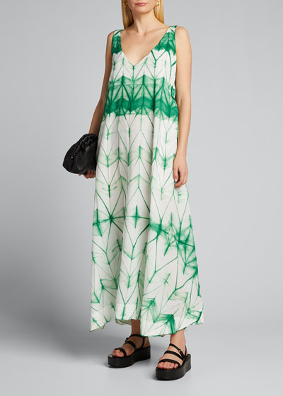 Itajime Tie-Dyed Midi Dress