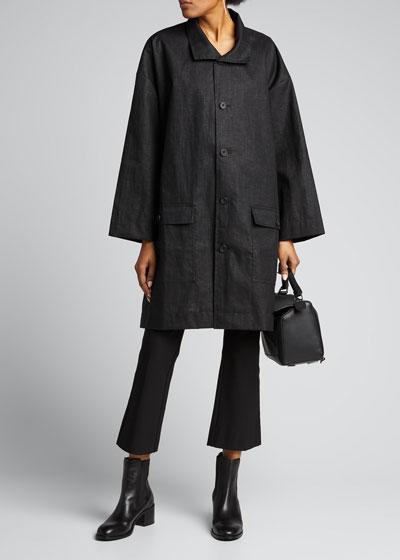 Linen A-Line Raincoat